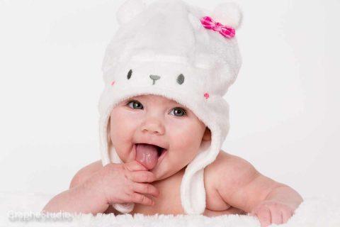 Photo de bébé en studio à Chambly